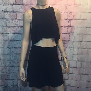 Brand New Forever 21 Black 2piece top & skirt M